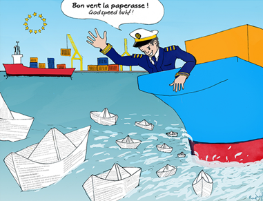 illustration, creation, transports maritimes, etablissement publique, communication publique